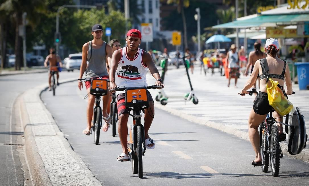 O calçadão de Copacabana Foto: Roberto Moreyra/19.02.2021 / Agência O Globo