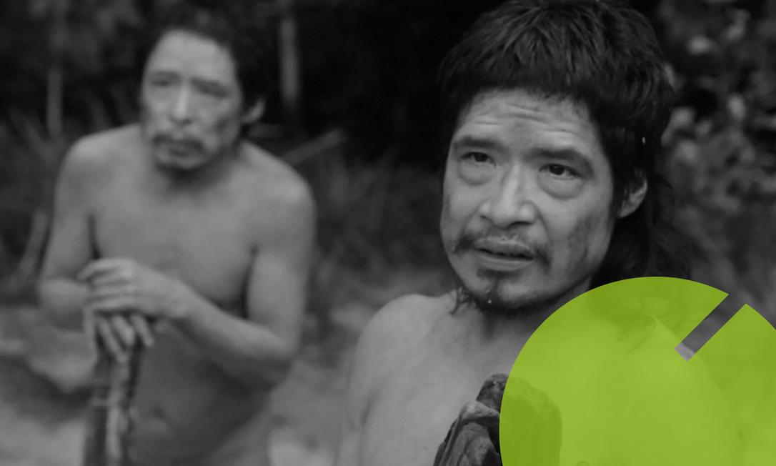 Os sobreviventes Pakuí e Tamanduá em cena do documentário que conta como seu povo foi dizimado Foto: Reprodução