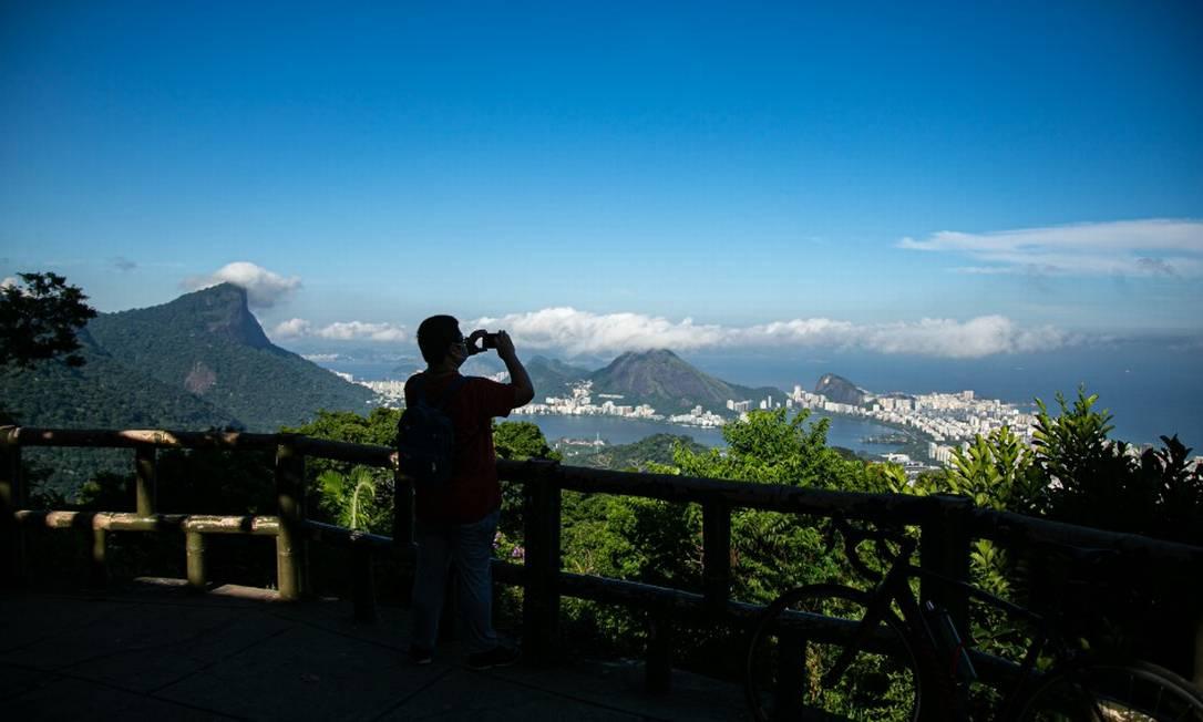 Vista Chinesa, um dos pontos turísticos do Parque Nacional da Tijuca Foto: Hermes de Paula / Agência O Globo
