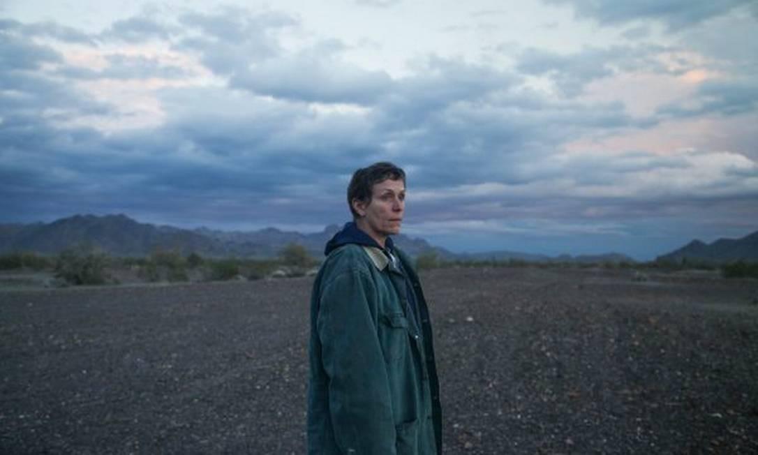 Frances McDormand em cena de Nomadland, de Chloé Zhao Foto: Reprodução
