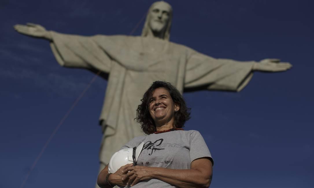 A arquiteta Cristina Ventura é a responsável pelas obras de restauro no Cristo Redentor Foto: Márcia Foletto / O Globo