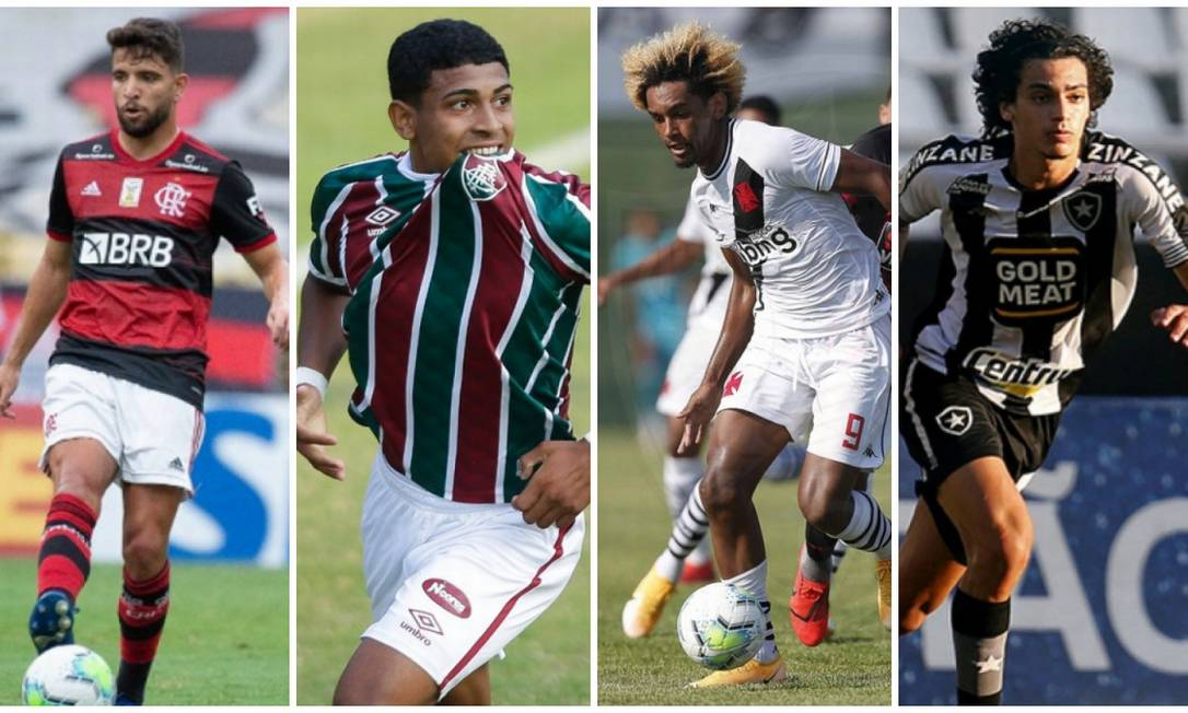 Apostas dos clubes do Rio para o início do Estadual Foto: Editoria de Arte