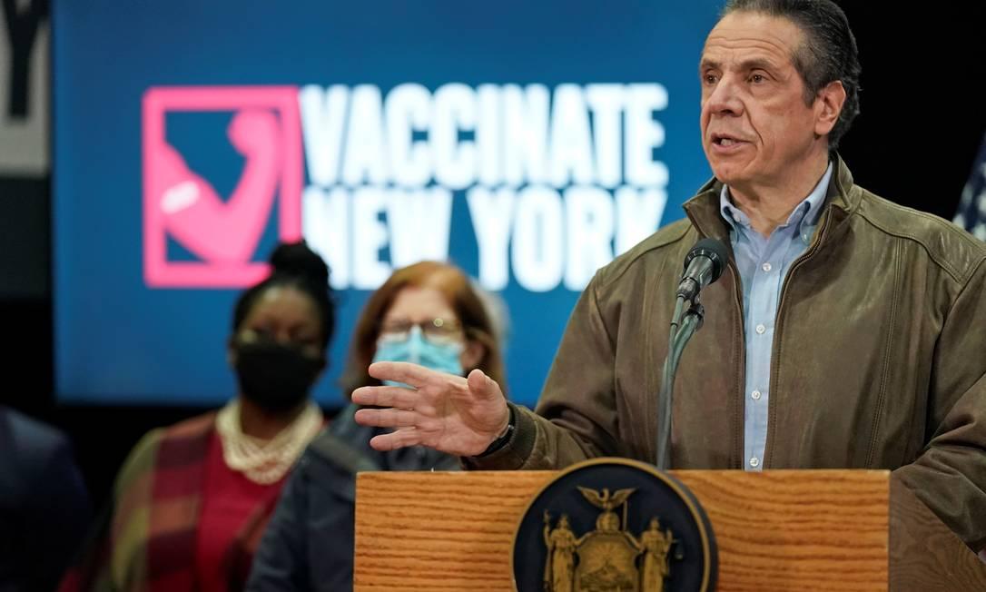 O governador de Nova York, Andrew Cuomo, diz estar ansioso para sancionar lei Foto: POOL / REUTERS