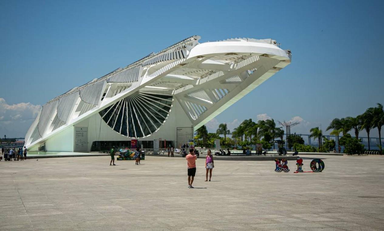 Museu do Amanhã, na Praça Mauá Foto: Hermes de Paula / Agência O Globo