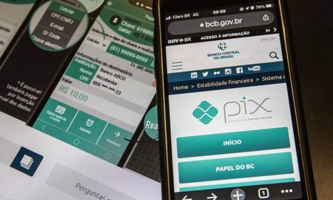 Pix, sistema de pagamento criado pelo Banco Central, vai permitir a movimentação do auxílio emergencial Foto: .