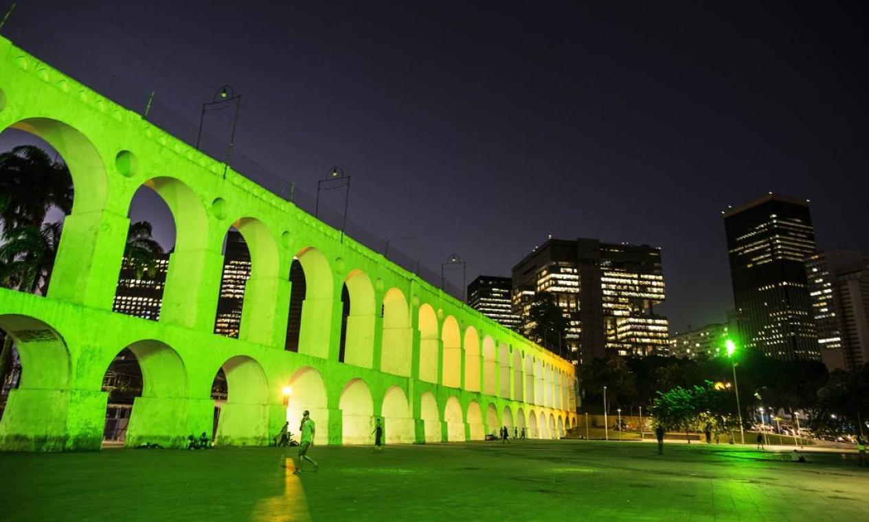 Arcos da Lapa Foto: Guito Moreto / Agência O Globo
