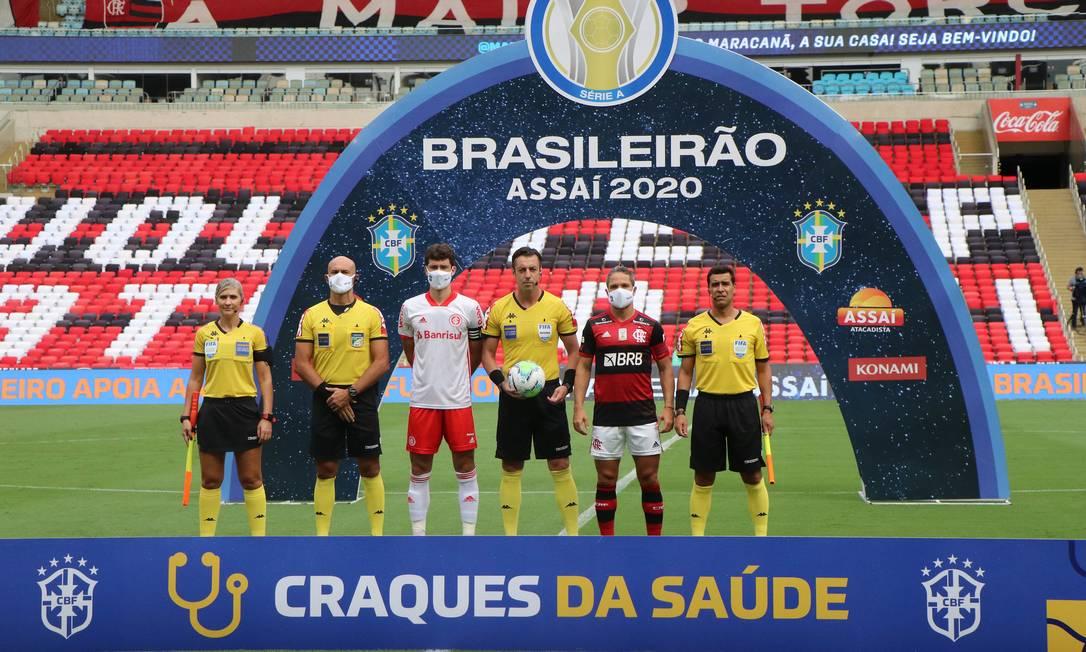 Flamengo e Internacional se enfrentaram no Maracanã Foto: Ricardo Duarte/Inter
