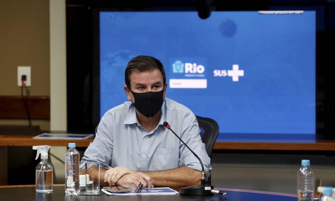 O prefeito Eduardo Paes Foto: Fabiano Rocha em 19-02-2021 / Agência O Globo