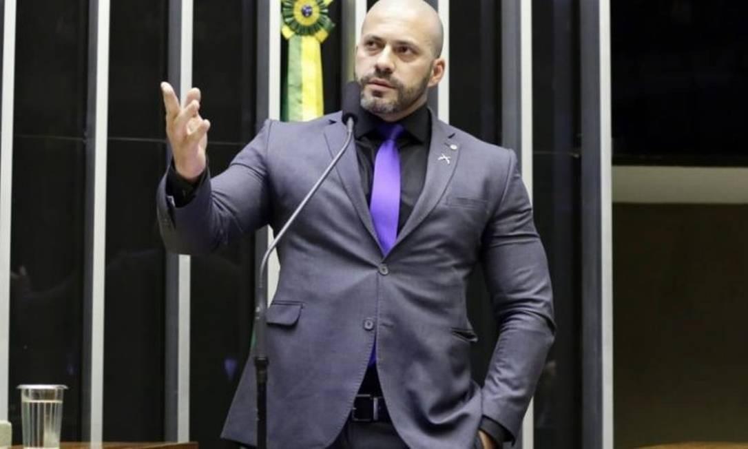 Deputado Daniel Silveira, do PSL do Rio Foto: Michel Jesus/Câmara dos Deputados