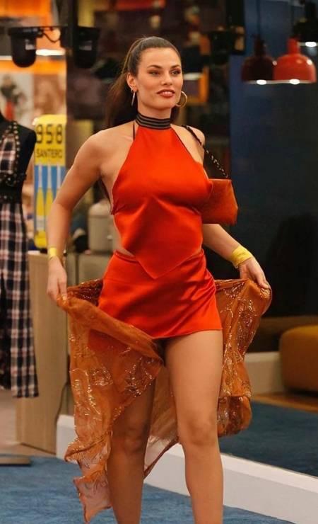 Modelo brasileira Dayane Mello no BBB Itália Foto: Reprodução