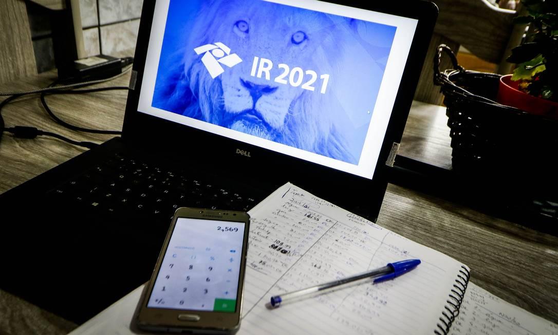 Imposto de Renda 2021: para zo para declaração vai até 30 de abril Foto: Aloisio Mauricio/Fotoarena / Agência O Globo