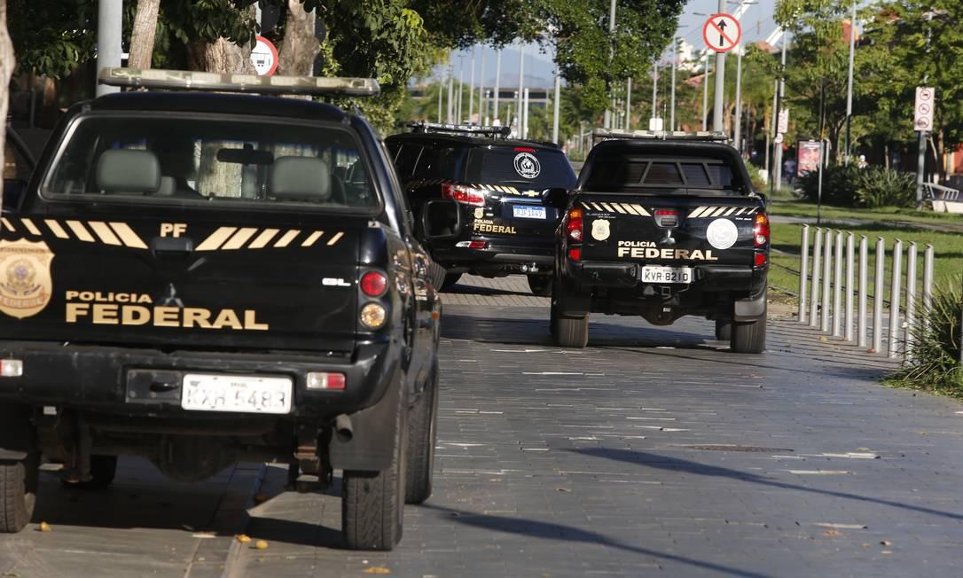 Polícia Federal cumpriu prisão preventiva de quatro desembargadores do TRT do Rio nesta terça-feira Foto: Fabiano Rocha / Agência O Globo