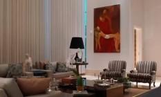 Imagens internas da mansão comprada pelo senador Flávio Bolsonaro em Brasília por R$ 6 milhões Foto: Reprodução