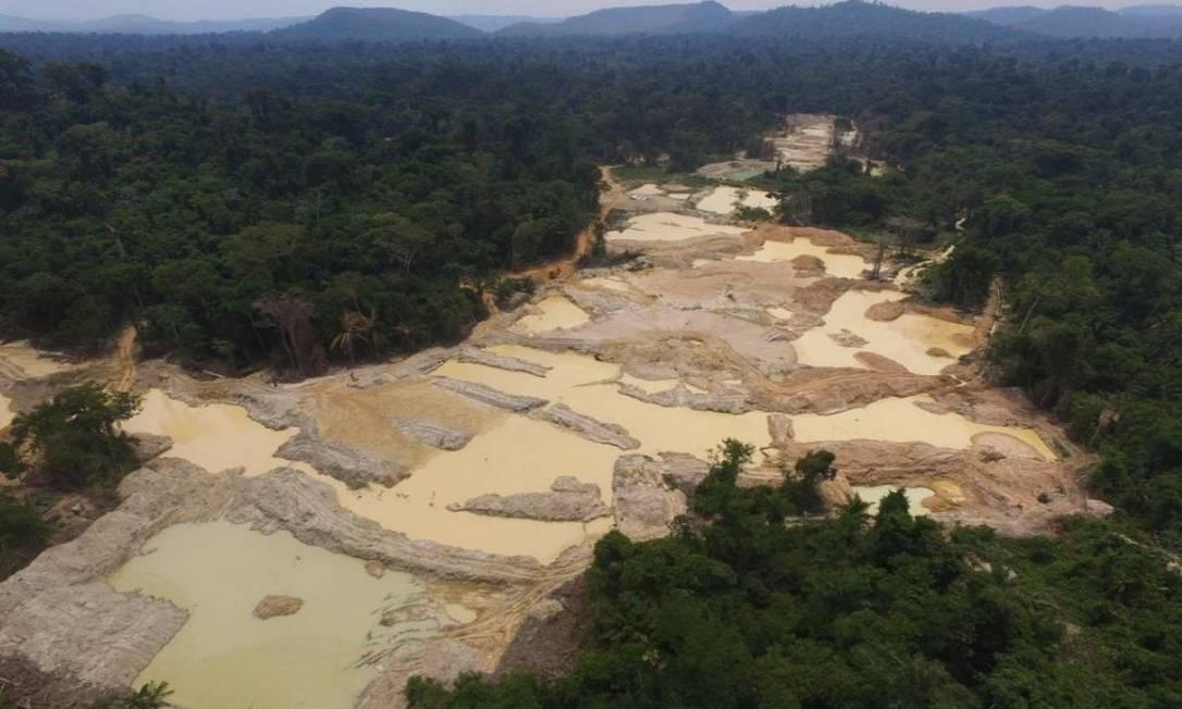 Terra Indígena Apyterewa tem sido alvo de pecuaristas, garimpeiros, madeireiros e grileiros Foto: Polícia Federal/Divulgação