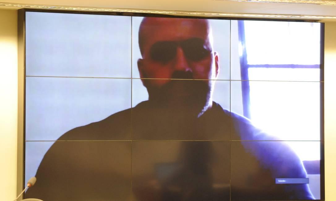 Deputado Daniel Silveira (PSL-RJ) em depoimento ao Conselho de Ética da Câmara dos Deputados Foto: GILMAR FELIX / Agência Câmara