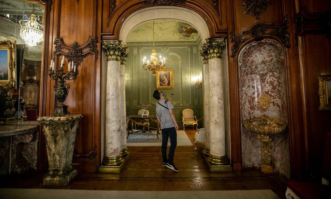 Jardins e interior do Palácio Laranjeiras voltarão a abrir para visitação do público Foto: Brenno Carvalho