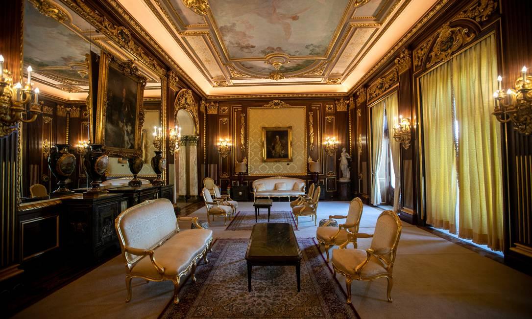 O Palácio Laranjeiras é tombado pelo Instituto do Patrimônio Histórico e Artístico Nacional (Iphan) Foto: Brenno Carvalho / Agência O Globo