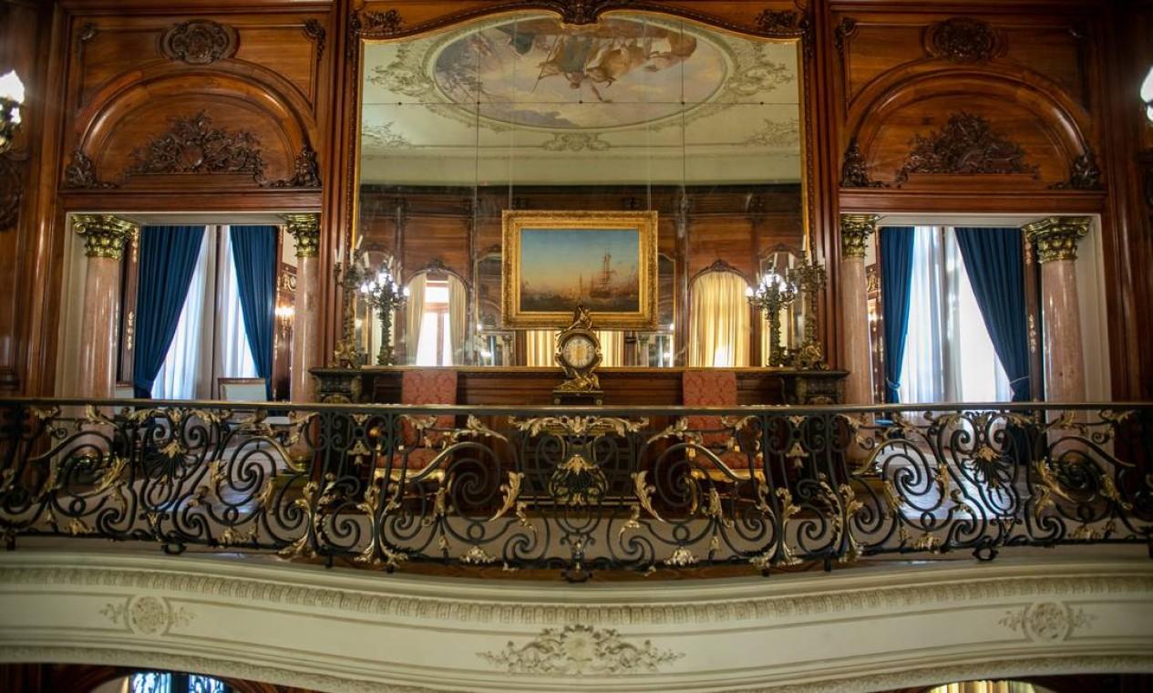 No Palácio Laranjeiras, as visitas só poderão apenas guiadas e em grupos de até 20 pessoas Foto: Brenno Carvalho / Agência O Globo