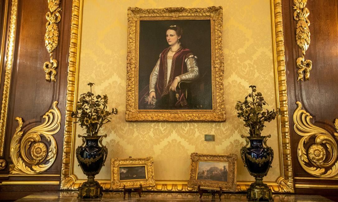 Público visitará no Palácio Laranjeiras ambientes como o Salão Luis XIV e a Sala de Música Foto: Brenno Carvalho / Agência O Globo