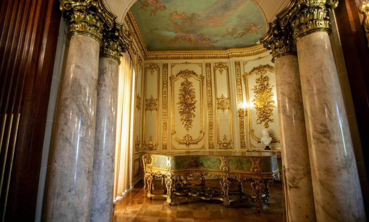 Visitantes vão conhecer a história de ambientes do Palácio Laranjeiras Foto: Brenno Carvalho / Agência O Globo