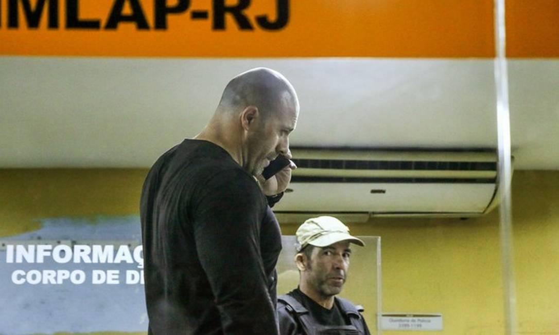Daniel Silveira no IML do Rio Foto: BETINHO CASAS NOVAS/FUTURA PRESS