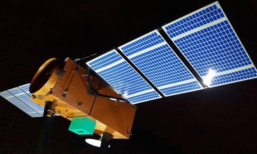 Amazônia 1 está em órbita no espaço e envia primeiras imagens — Foto: Divulgação/Inpe