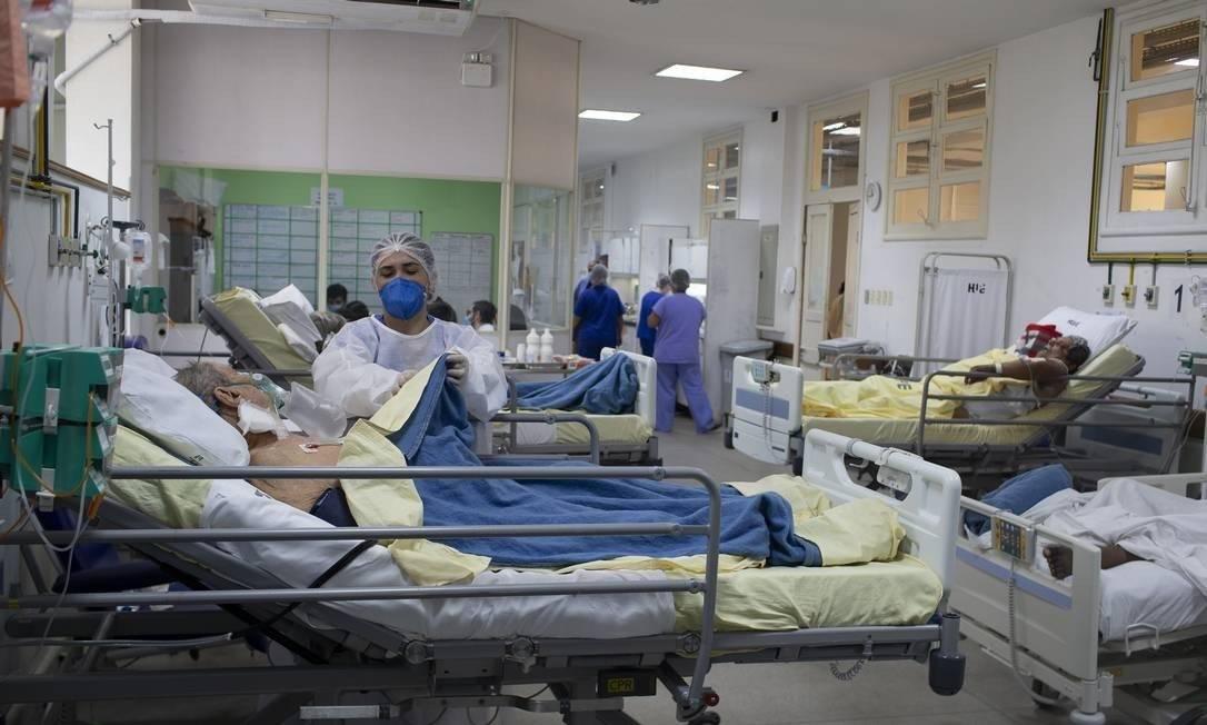 Pacientes com coronavírus Foto: Márcia Foletto/Agência O Globo