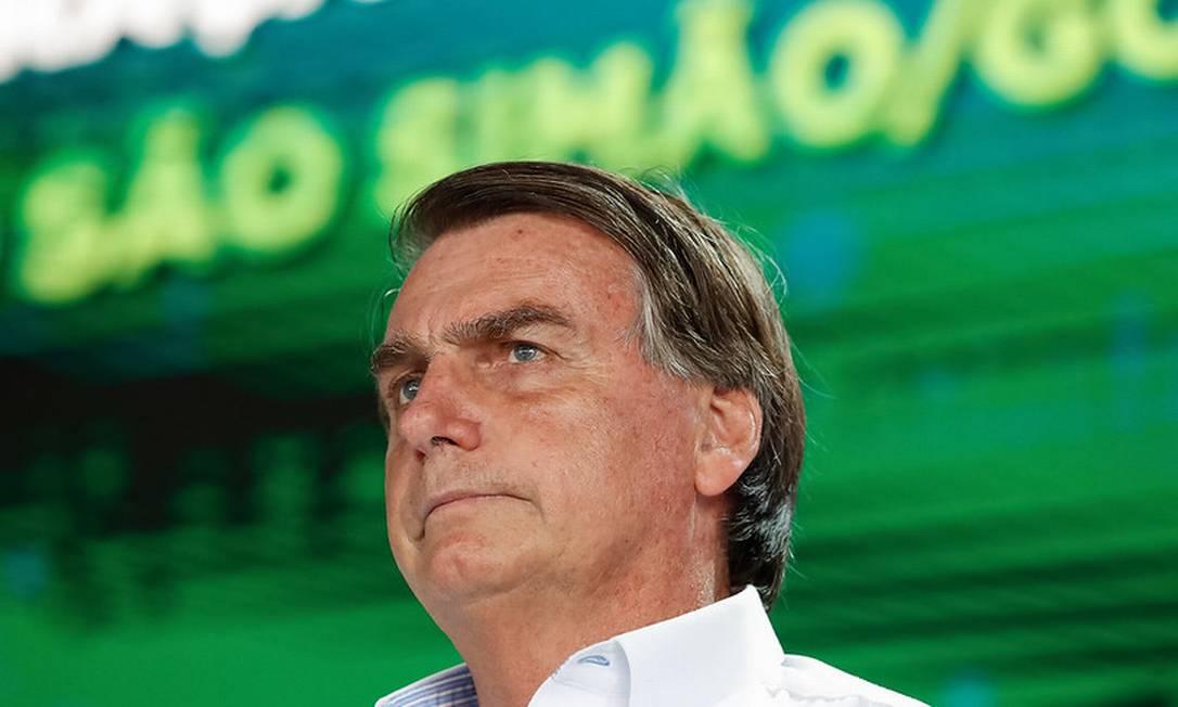 O presidente Jair Bolsonaro participa de inauguração de trecho da ferrovia Norte-Sul Foto: Alan Santos/Presidência
