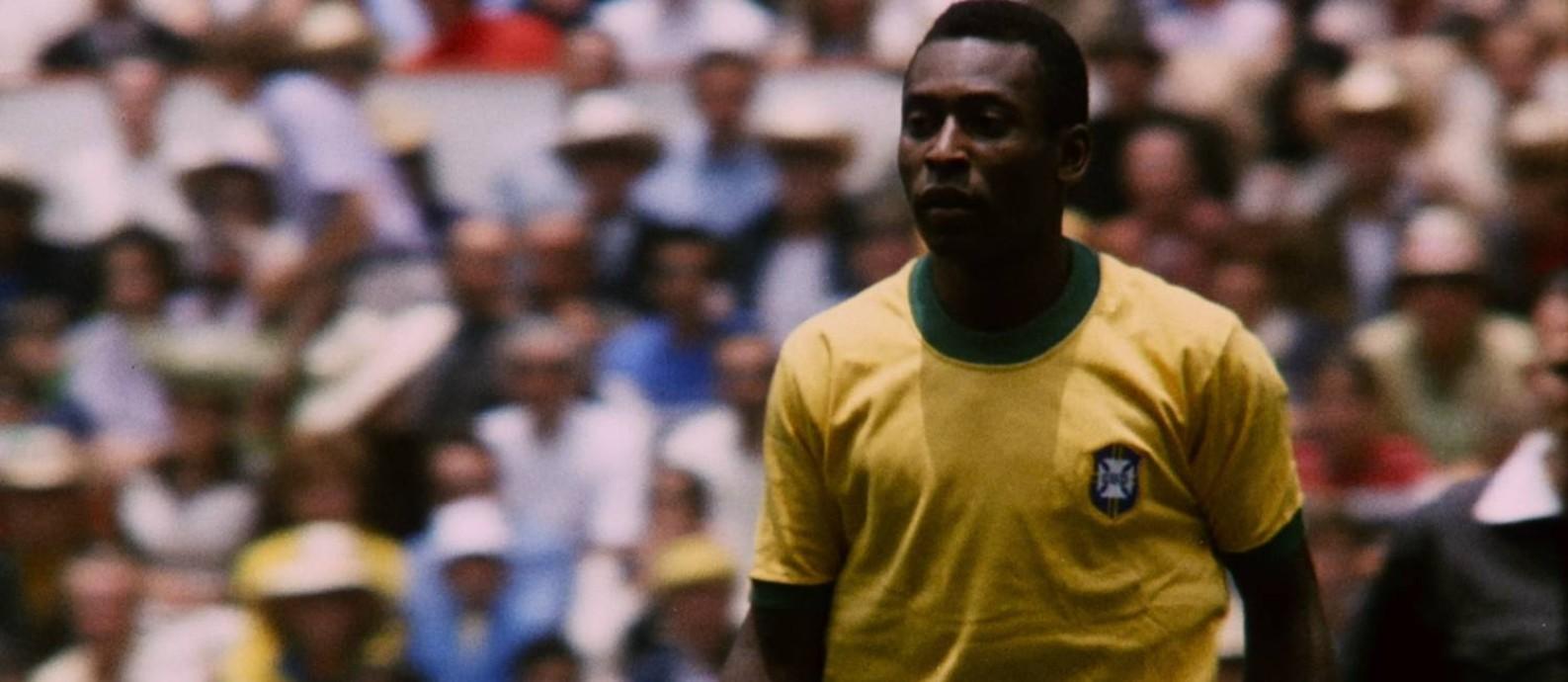 Maior estrela do futebol, Pelé brilhou durante a Ditadura Militar Foto: Divulgação/Netflix