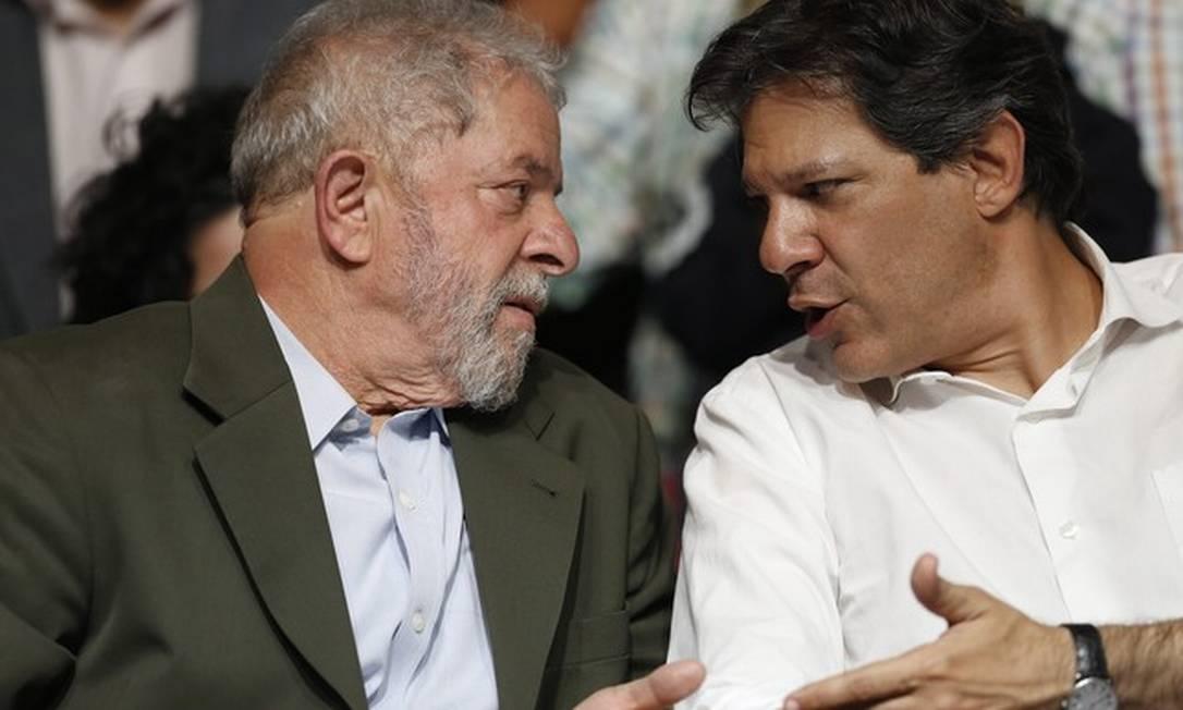 Lula e Haddad Foto: Edilson Dantas/Agência O Globo