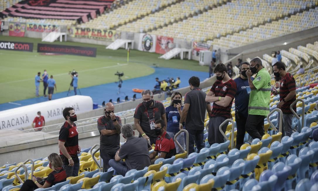 Jogo entre Flamengo e Nova Iguaçu registrou movimento nas arquibancadas Foto: Alexandre Cassiano / Agência O Globo