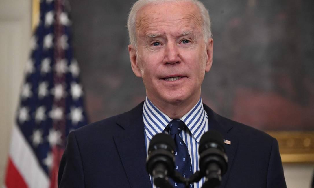 Presidente dos EUA Joe Biden fala sobre a aprovação do Plano de Resgate Americano na Casa Branca em Washington Foto: SAUL LOEB/ 06/03/2020 / AFP