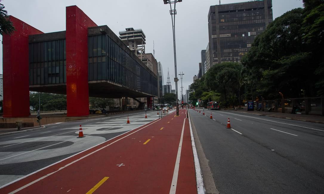 Avenida Paulisa, em frente ao Museu de Arte de São Paulo (Masp), Foto: Edilson Dantas / Agência O Globo