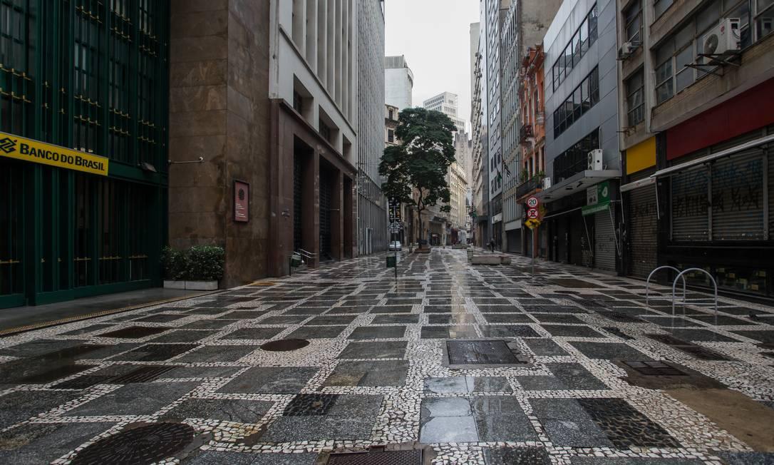 Rua 15 de Novembro, Centro Foto: Edilson Dantas / Agência O Globo