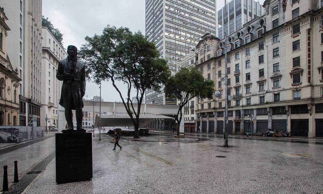 Praça do Patriarca, no Centro Histórico de São Paulo Foto: Edilson Dantas / Agência O Globo