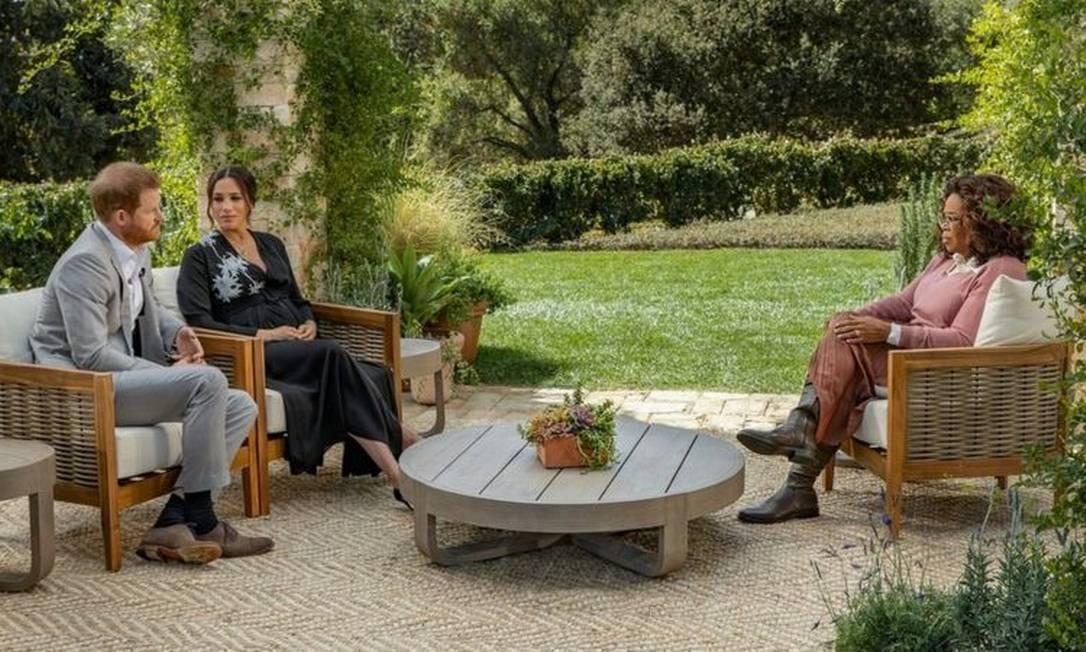 Príncipe Harry e Meghan Markle falam à Oprah Winfrey Foto: Reprodução