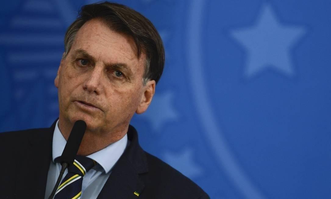 O presidente Jair Bolsonaro no Palácio do Planalto Foto: Agência O Globo