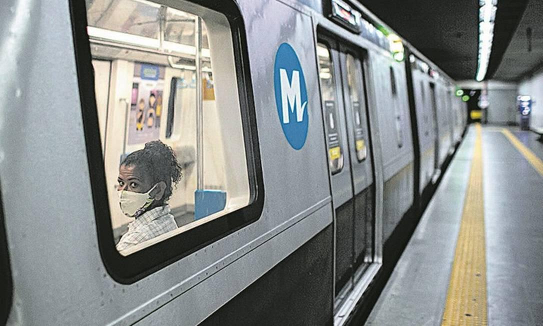 O metrô tem reajuste de tarifa previsto para abril: concessionária alega que perdeu 55% dos passageiros Foto: Hermes de Paula/19.08.2020