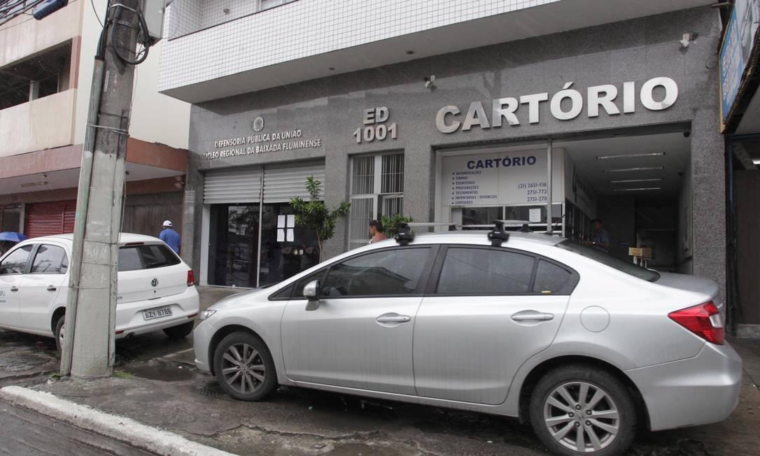 Fachada de cartório em São João de Meriti, na Baixada Fluminense Foto: Cléber Júnior/22.021.2016 / Agência O Globo