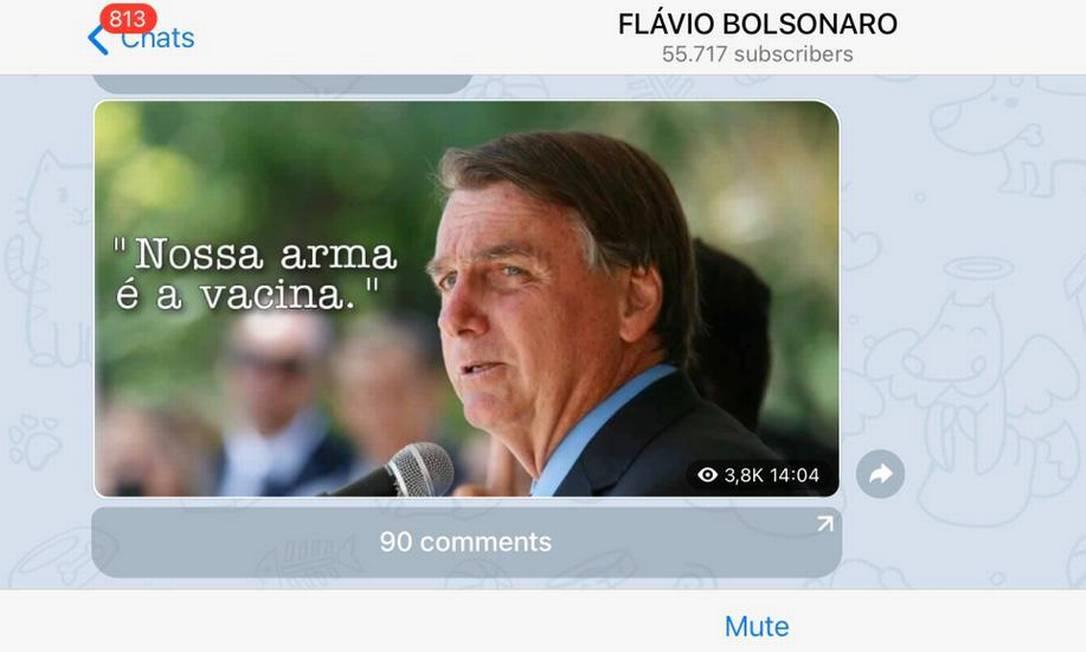 Em gesto inédito, família Bolsonaro passa a defender vacina após discurso de Lula Foto: Reprodução