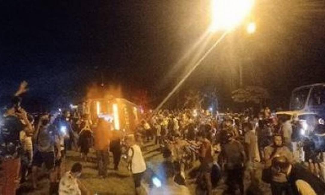 BRT tombou na Zona Oeste do Rio, deixando uma pessoa morta Foto: Reprodução