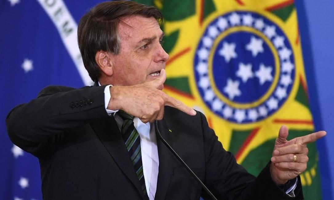 Presidente da República Jair Bolsonaro vem sendo chamado de genocida Foto: EVARISTO SA / AFP