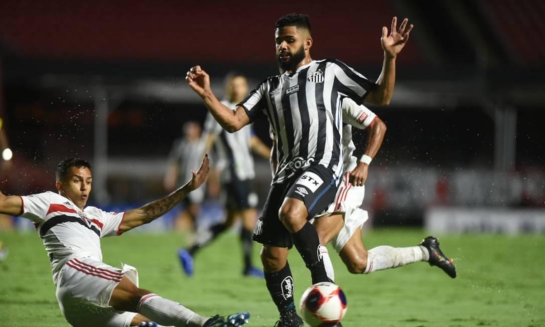 Santos e São Paulo duelam pelo Campeonato Paulista Foto: Ivan Storti/Santos FC