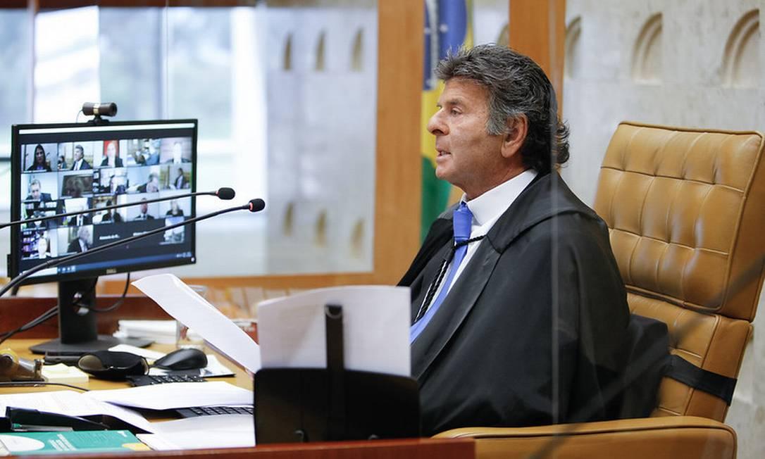 O presidente do STF, Luiz Fux, é pressionado a levar o caso para o plenário Foto: Divulgação