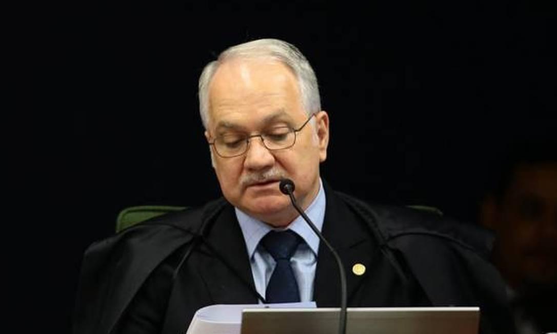 O ministro Edson Fachin, que anulou condenações de Lula relacionadas à Lava Jato Foto: Jorge William / Agência O Globo