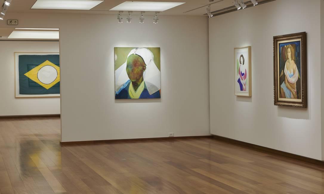 Sala de Cristina Canale na mostra 'A escolha do artista na Coleção Roberto Marinho Foto: CADU PILOTTO / Cadu Pilotto/Divulgação