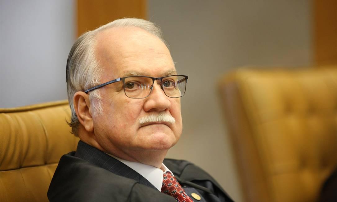 O ministro Edson Fachin, durante sessão do STF Foto: Nelson Jr./STF/09-09-2020