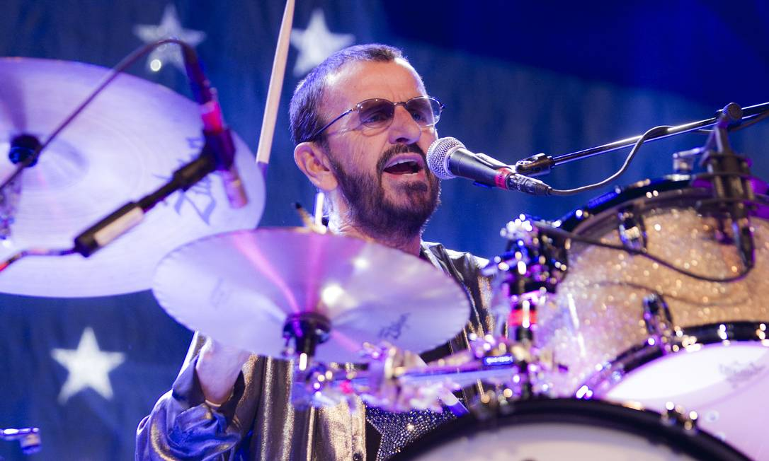 O cantor e baterista Ringo Starr Foto: Scott Robert Ritchie / Divulgação