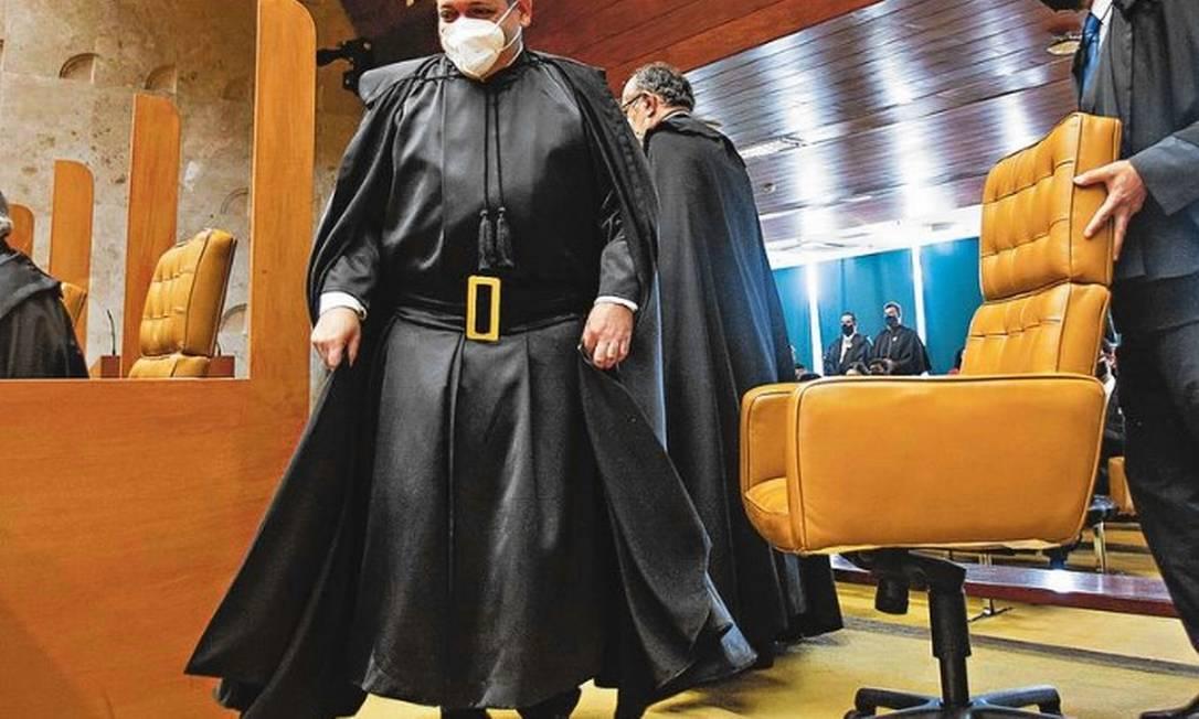 Ministro Nunes Marques determinou que as reuniões aconteçam seguindo protocolos sanitários Foto: Fellipe Sampaio/SCO/STF
