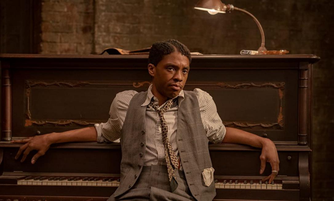 """Chadwick Boseman, 2021: Por seu trabalho em """"A Voz Suprema do Blues"""", Chadwick foi indicado ao prêmio de melhor ator nesta edição do Oscar. Foto: Reprodução"""